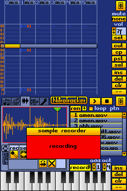 The sample recorder